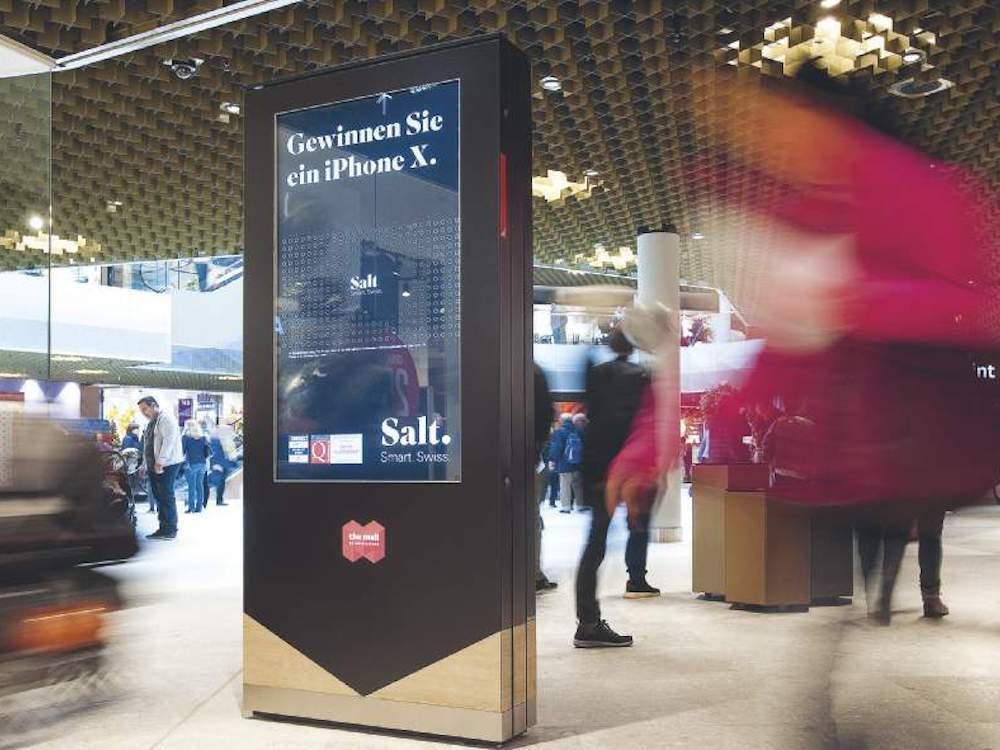 Retail DooH legte bei der APG|SGA zu – hier in der neuen Mall of Switzerland (Foto: APG|SGA)