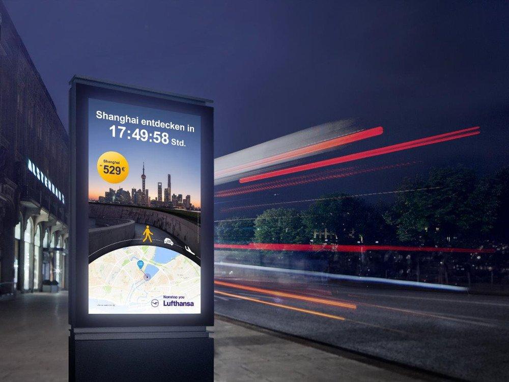 Beste Mediastrategie OOH - Lufthansa (Foto:FAW/Lufthansa)