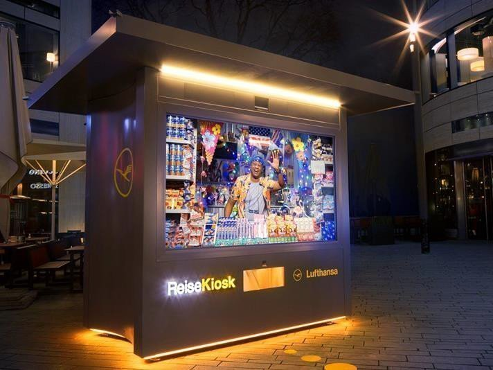 Prämierte Lufthansa Kampagne - Beste Innovative Nutzung OOH (Foto:FAW/Lufthansa)
