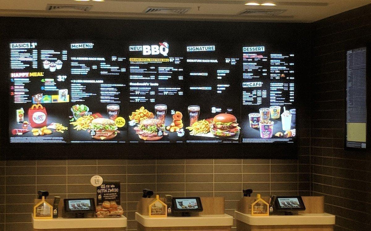 Menüboards bei McDonalds (Foto: invidis)