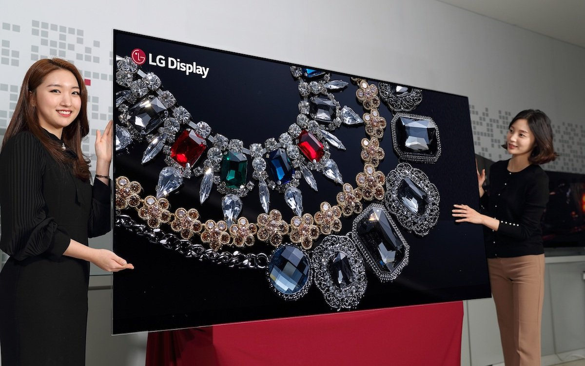 "Bislang ein Showcase der erste 8K 88"" OLED TV der Welt (Foto: LG Display)"