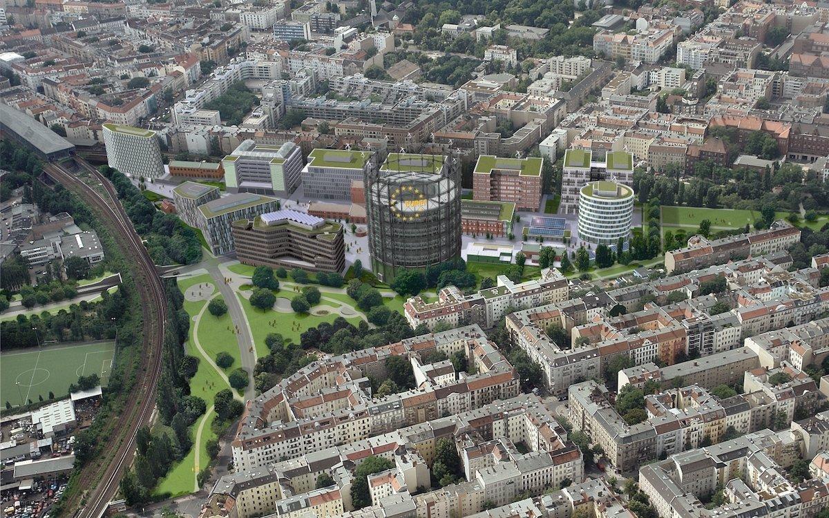 Der EUREF-Campus aus der Vogelperspektive (Foto: EUREF AG)