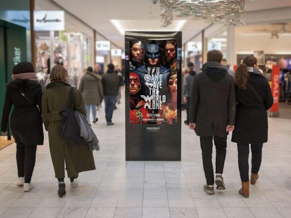 DooH Screen von Clear Channel in einer dänischen Shopping Mall (Foto: Clear Channel)