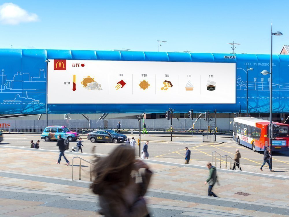 Großer LED Screen in Liverpool mit Motiv aus der aktuellen Kampagne (Foto: Grand Visual)