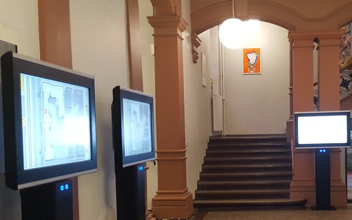Mit Touch-Kiosken ist die Navigationslösung vor Ort ebenso nutzbar wie im (mobilen) Web (Foto: 3d-berlin)
