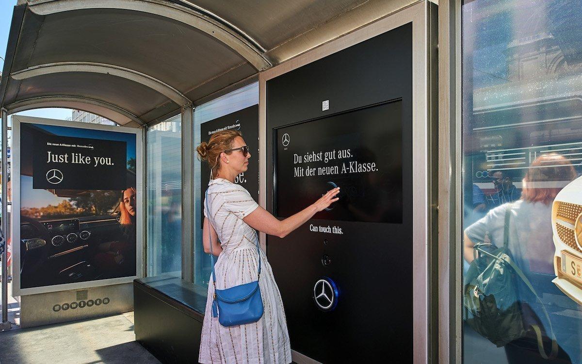 Mit Touch wurden Passanten zur Interaktion ebenso aufgefordert wie via Beacons (Foto: Gewista)