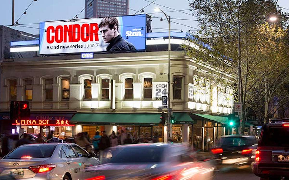 "Neuer LED Screen ""The Lonsdale"" in Melbourne (Foto: Daktronics)"