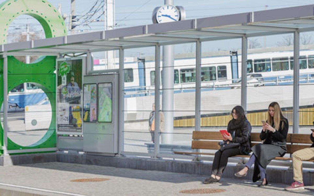 Smarte Haltestelle in Zürich (Foto: VBZ /Tom Kawara)