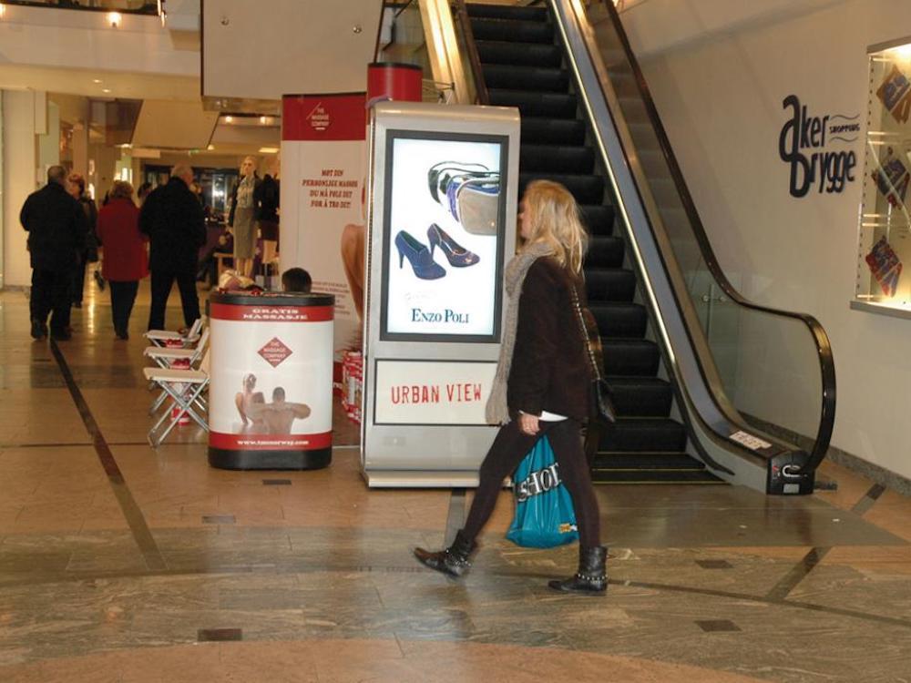 Umsetzung mit ONELan in der norwegischen Shopping Mall Aker Brygge (Foto: ONELAN)