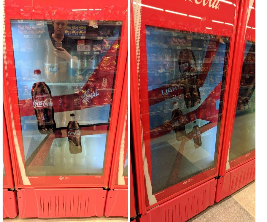 CocaCola setzt auf transparente Displays am PoS in Argentinien (Foto: invidis)