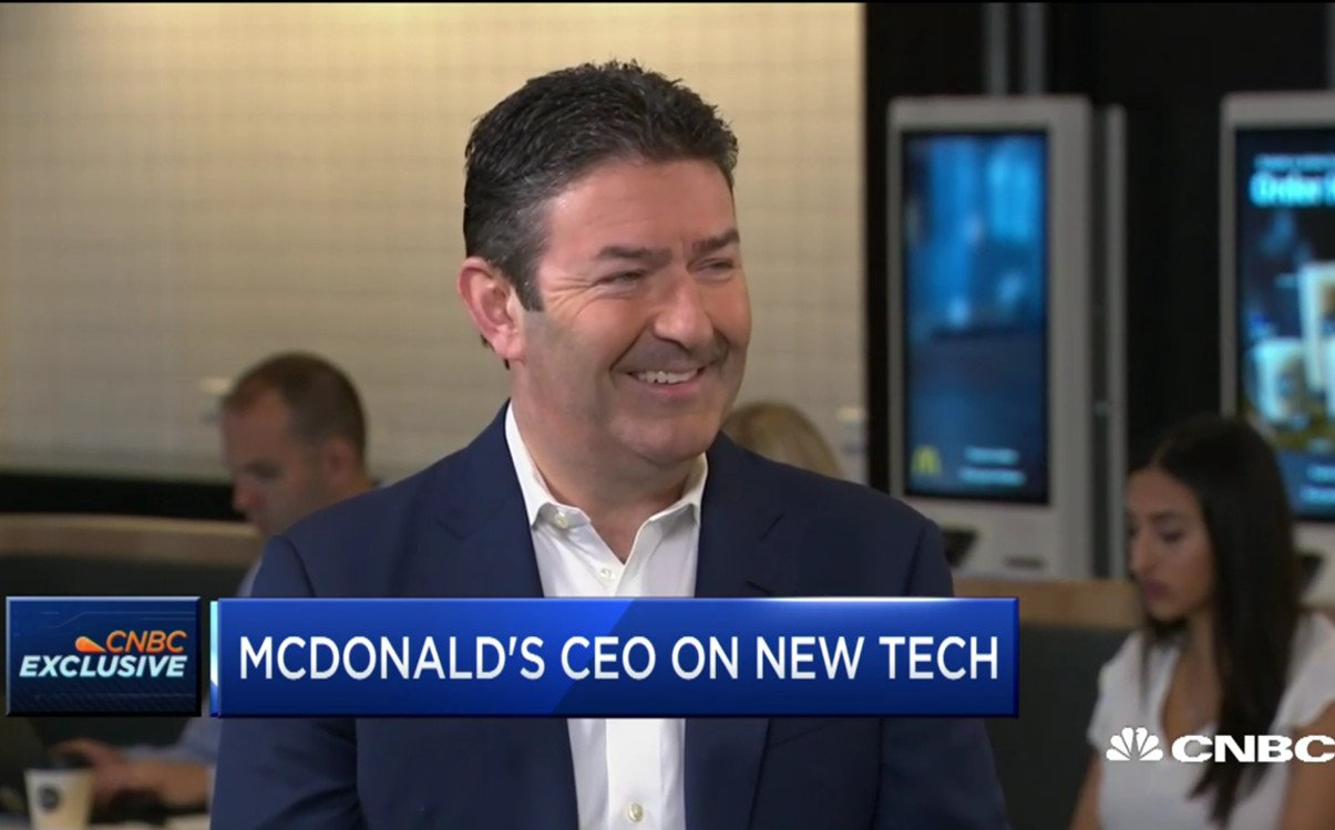 McDonalds CEO zum Thema Digital Signage (Foto: Screenshot)