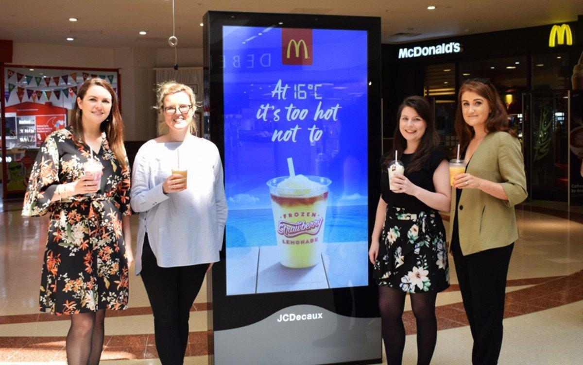 McDonalds Irland setzt auf dynamische DooH-Kampagne (Foto: Source out of home)