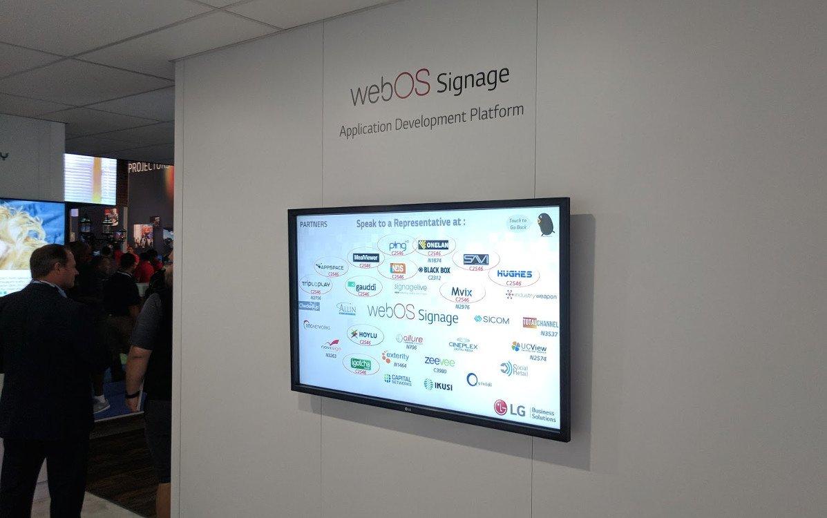 WebOS Ökosystem war groß vertreten (Foto: invidis)