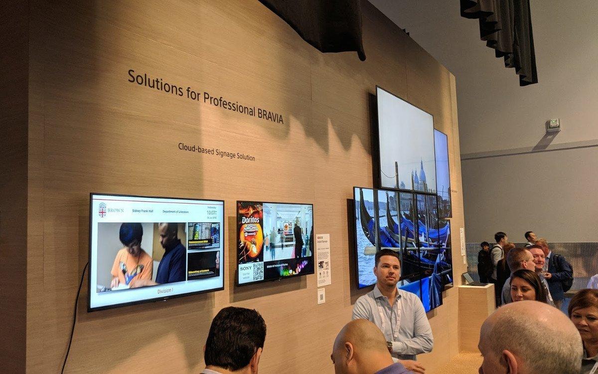 Sony Digital Signage Lösungen (Foto: invidis)