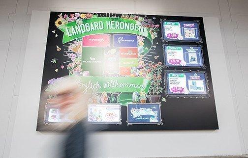 Digital Signage bei Landgard (Foto: Online Software AG)