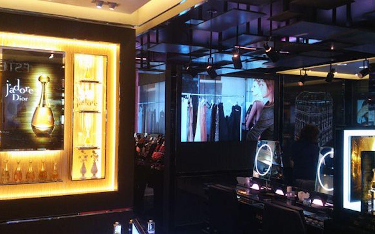 BrightSign-Player sind auch in Stores von Dior im Einsatz (Foto: BrightSign)