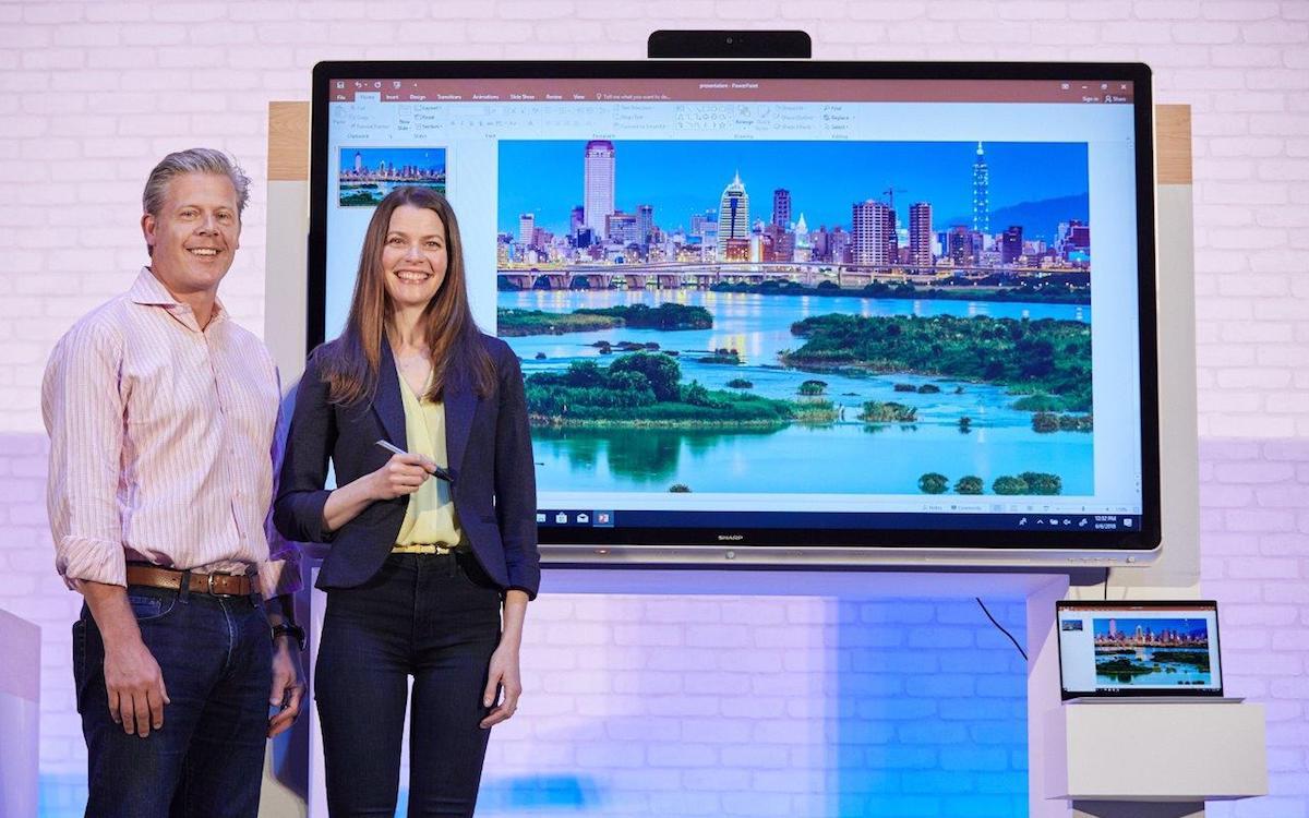 """Die neuen interaktiven """"Windows Collaboration Displays"""" stammen von Partnern aus der Displayindustrie (Foto: Microsoft)"""
