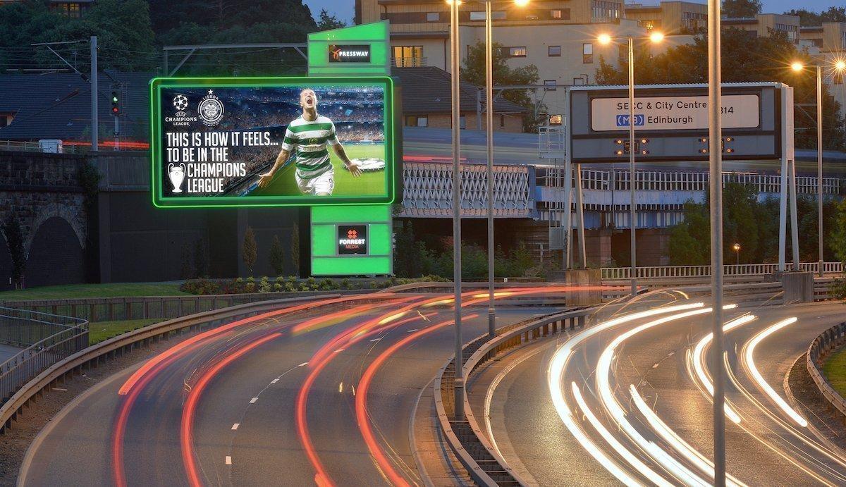 LED Roadside Screen von Forrest Media in Edinburgh (Foto: Ocean Outdoor)