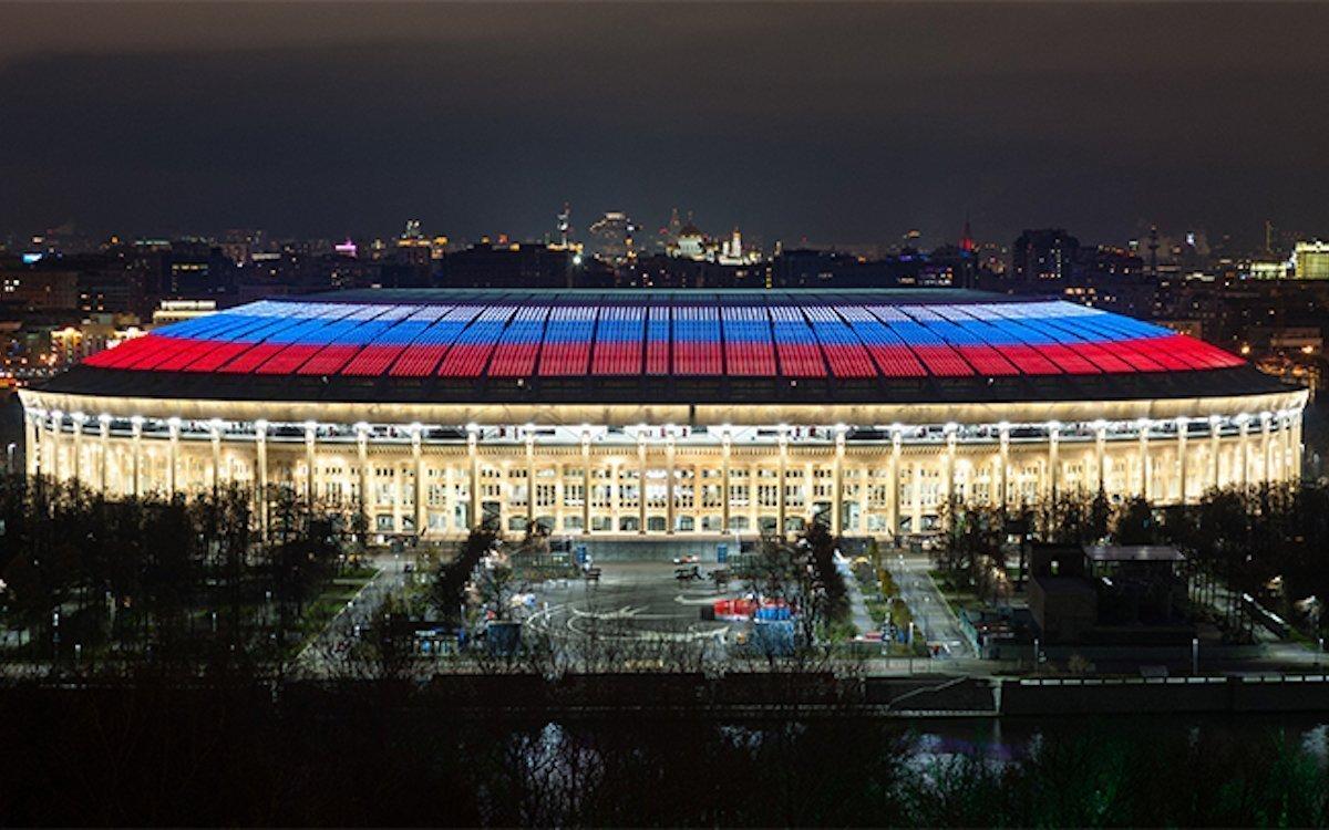Luzhniki-Stadion während der WM 2018 (Foto: Signify)