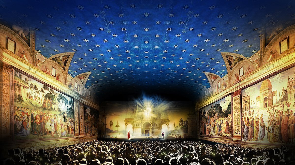 Mit 270 Grad Projektionen schafft die Show die virtuellen Aha-Erlebnisse (Foto: Panasonic)