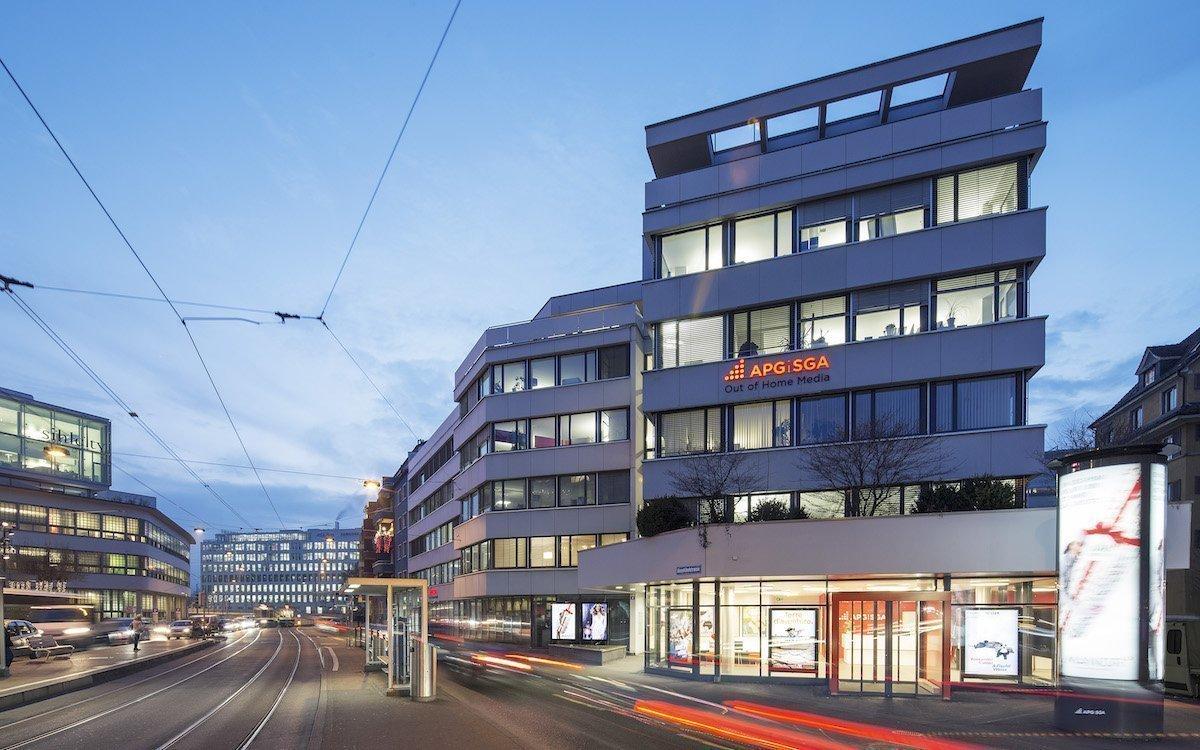Zentrale von Außenwerber APG|SGA in Zürich (Foto: APG|SGA)