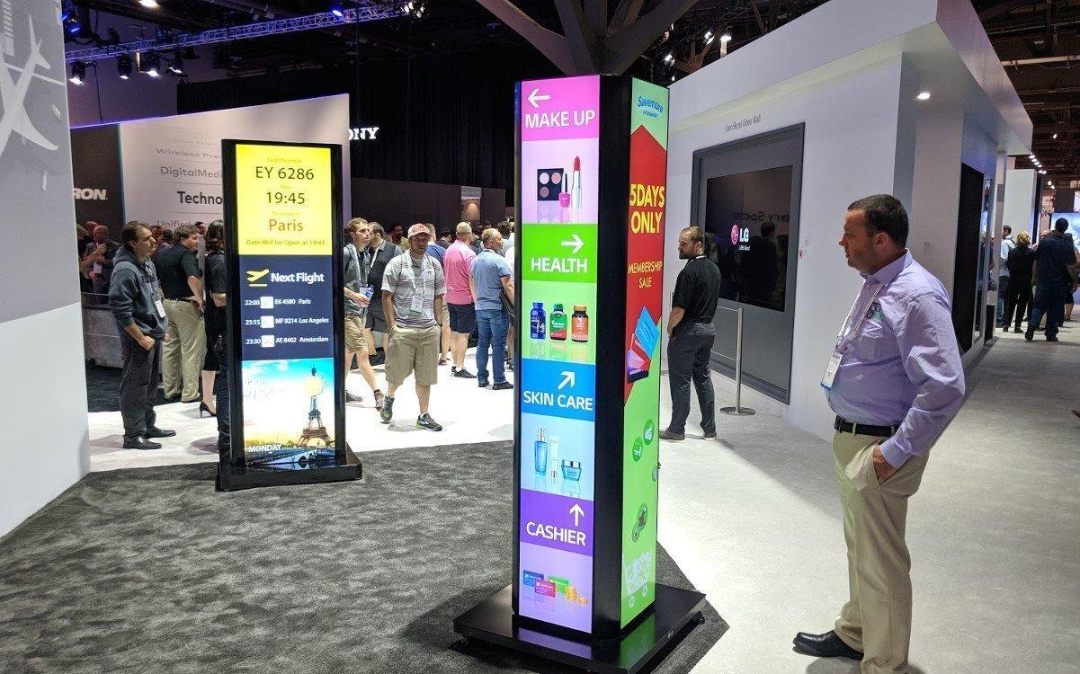 LG Stand auf der Infocomm - schmal und breit (Foto: invidis)