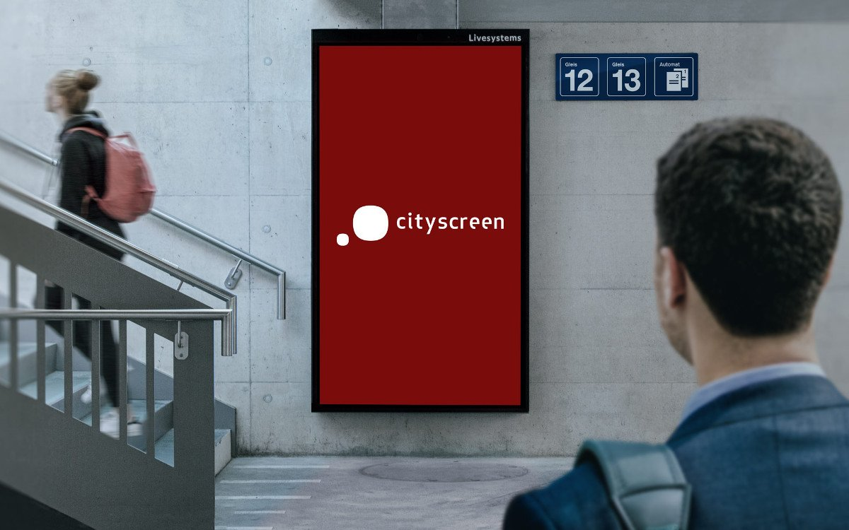 "Livesystems 86"" Cityscreen in Aarau (Foto: Livesystems)"