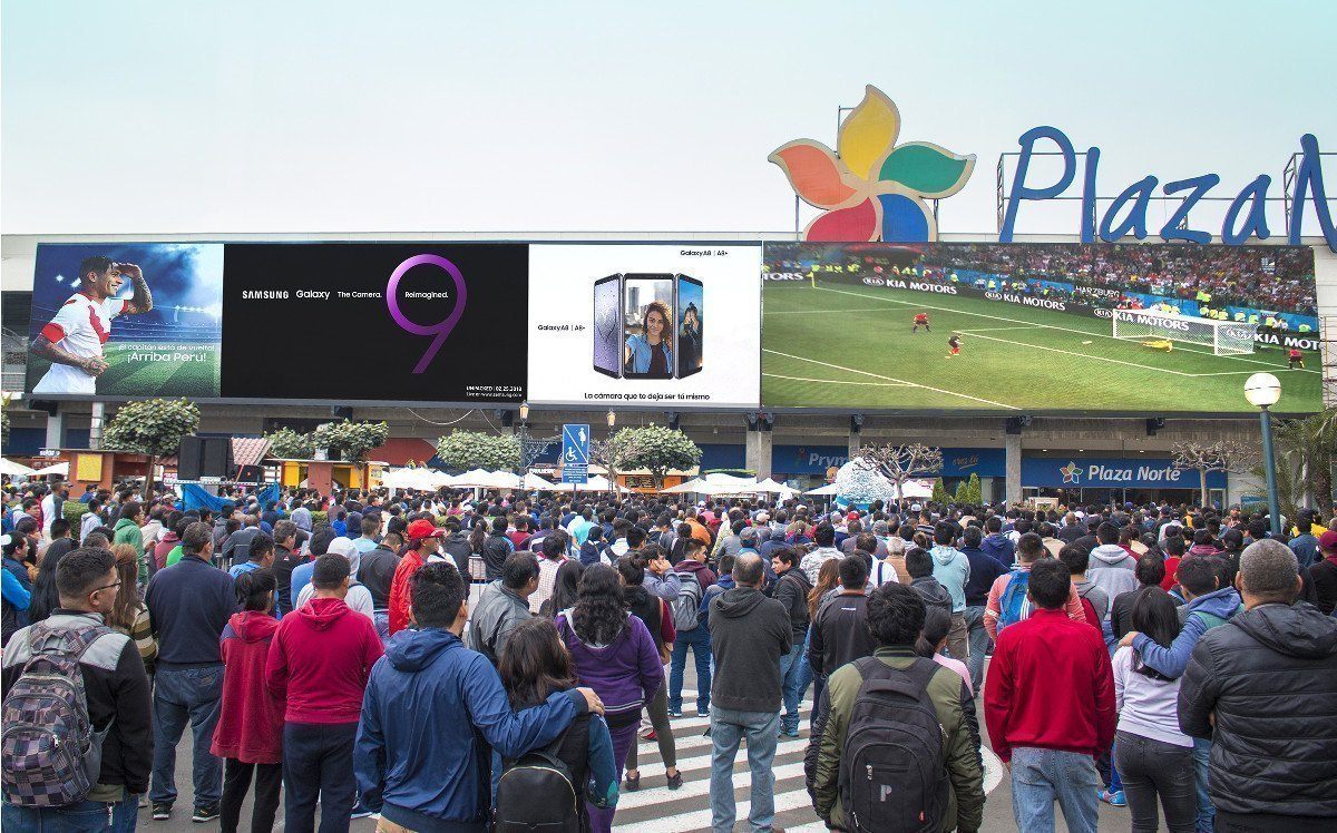 Samsungs LED-Wand in Lima Plaza Norte (Foto: Samsung)