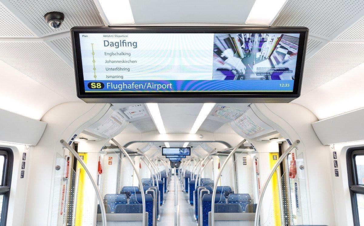 Über 4.000 neue Displays für Münchens S-Bahn (Foto: DB/BEG)