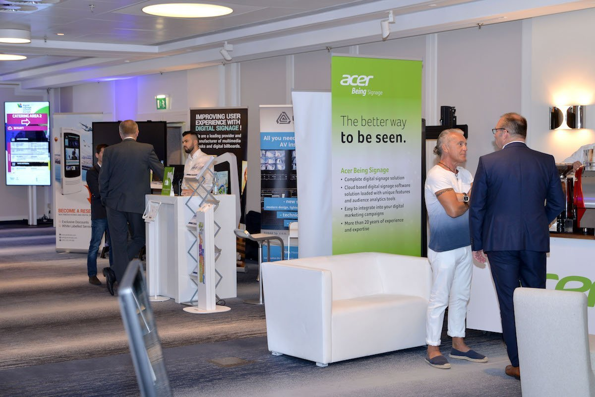 Am Stand von Acer gab es Branchenlösungen – und nach übereinstimmender Meinung auch den besten Kaffee (Foto: invidis)