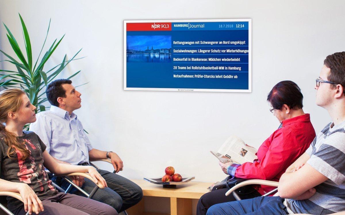 Das Hamburg Journal ist nun auch in Hamburger Arztpraxen zu sehen (Foto: TV-Wartezimmer)