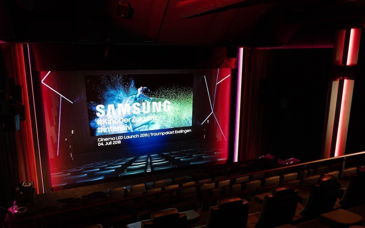 LED Screen von Samsung im Traumpalast in Esslingen (Foto: Samsung)