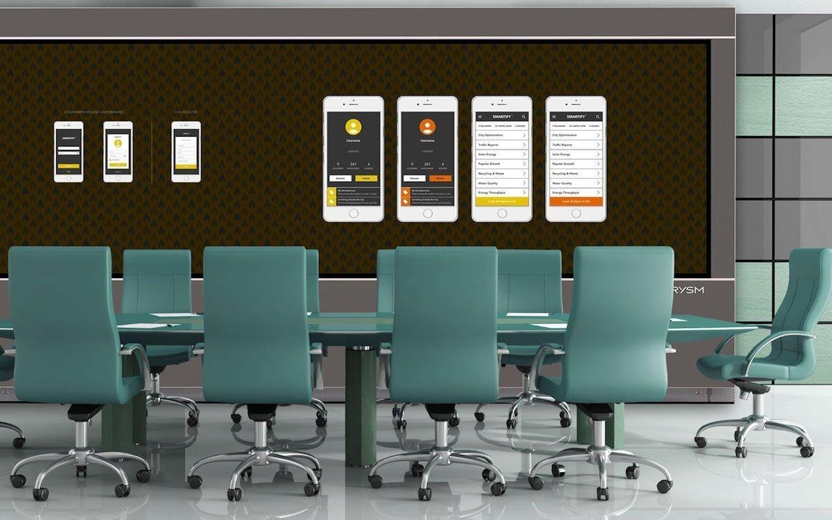 LPD 6K Screen von Prysm in einem Corporate Boardroom (Foto: Prysm)