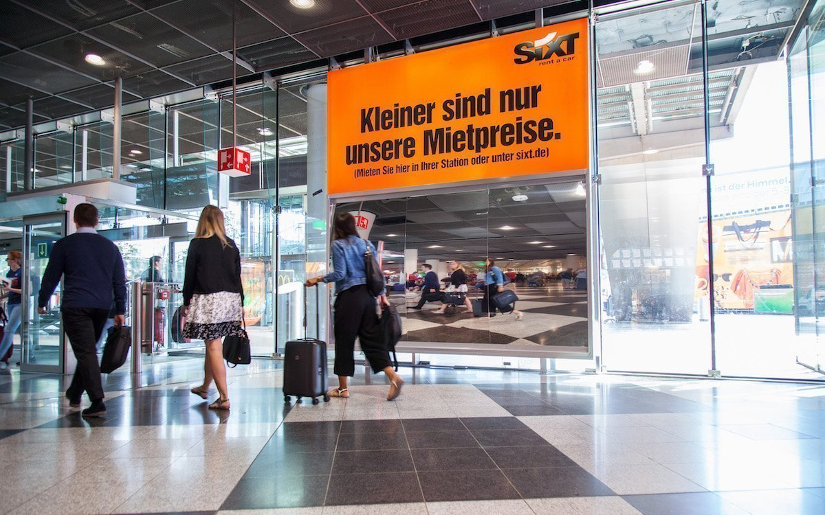 Spezielle Spiegel sorgen für den optischen Effekt (Foto: Flughafen München)