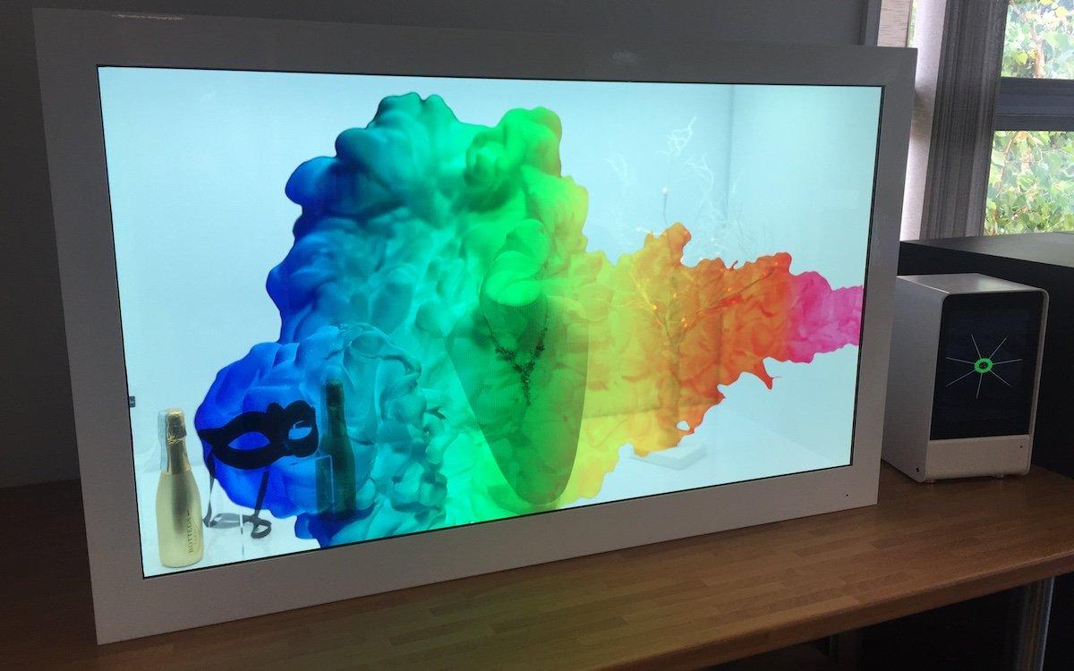 Transparenter LCD Screen von CDS (Foto: CDS)
