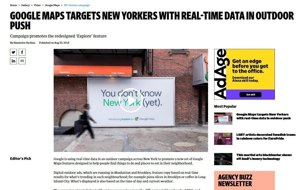 Ad Age: NYC Google You don't now yet (Foto: Screenshot)