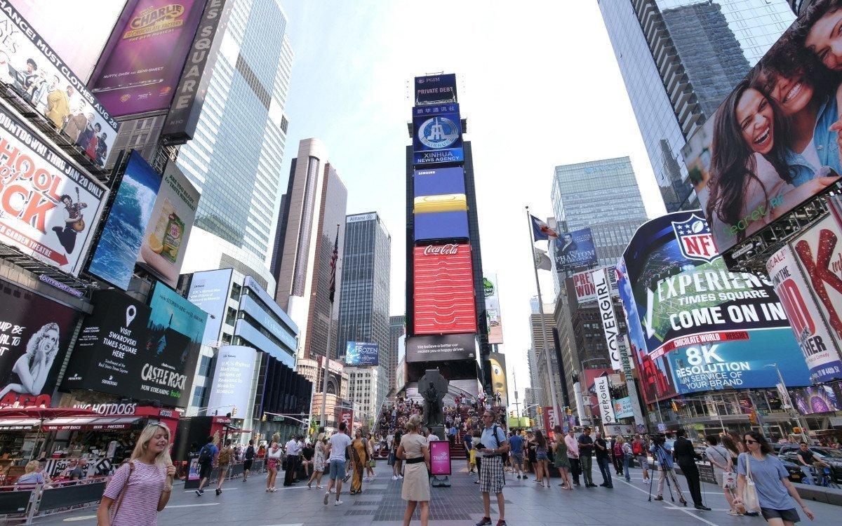 NYC die Zweite - Samsung Launch Kampagne für das Galaxy Note9 am Times Square (Foto: invidis)
