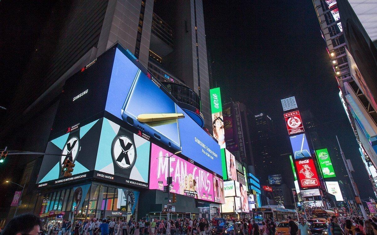 Samsung Launch Kampagne für das Galaxy Note9 am Times Square (Foto: Samsung)