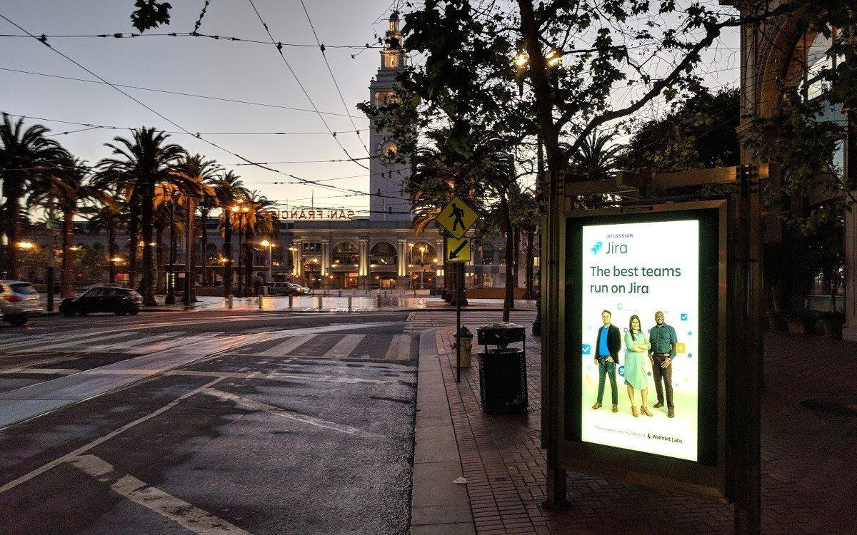 Tech DooH-Kampagne in San Francisco (Foto: invidis)