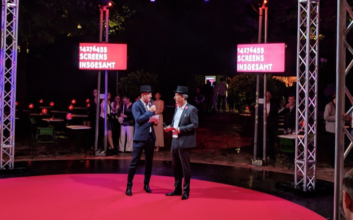 Goldbach Austria Chefs in der Manege - Josef Almer und Maurizio Berlini (Foto: invidis)