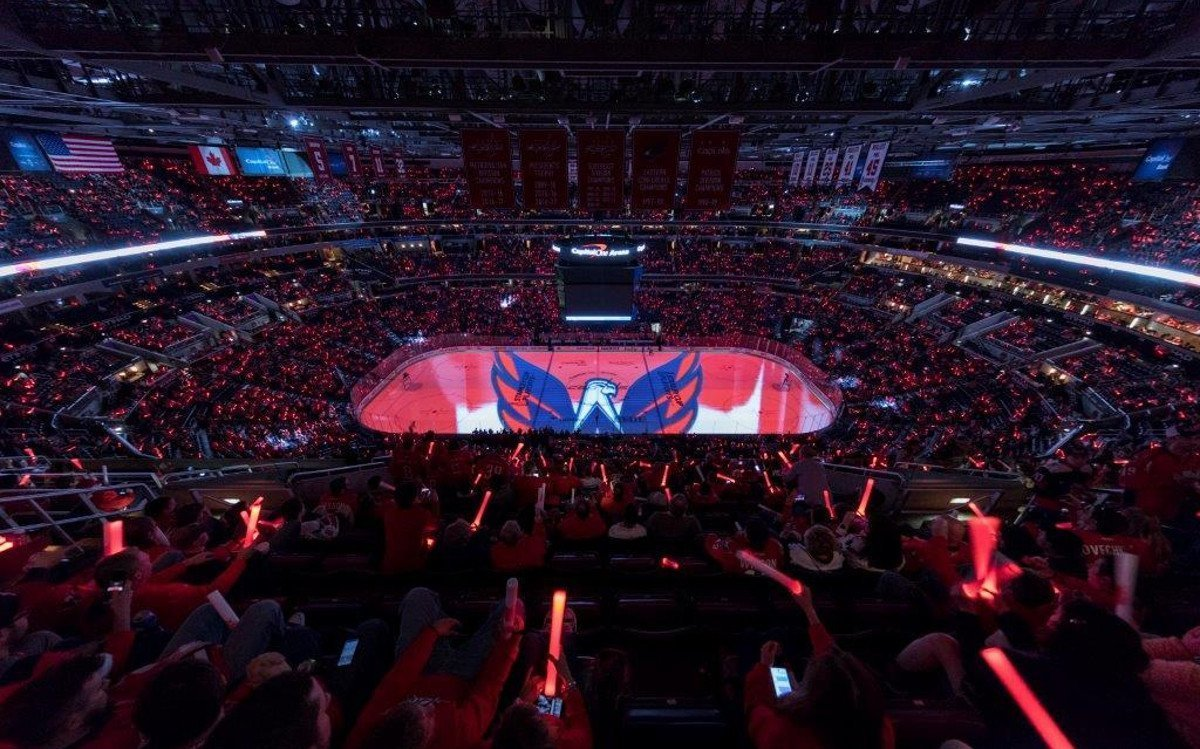 Projection Mapping Capital One Arena (Foto: Quince Imaging)