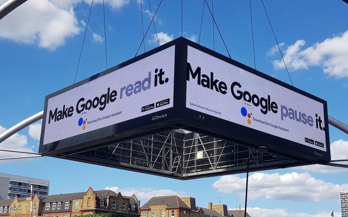 """""""Make Google Do It """" –Titel einer aktuellen DooH-Kampagne des Konzerns in Großbritannien (Foto: Grand Visual)"""