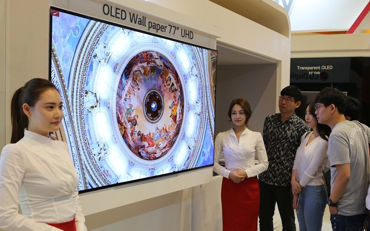 "OLED Wallpaper in 77"" (Foto: LG Display)"