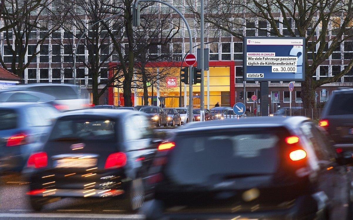 Roadside Screen in Hamburg (Foto: Ströer)