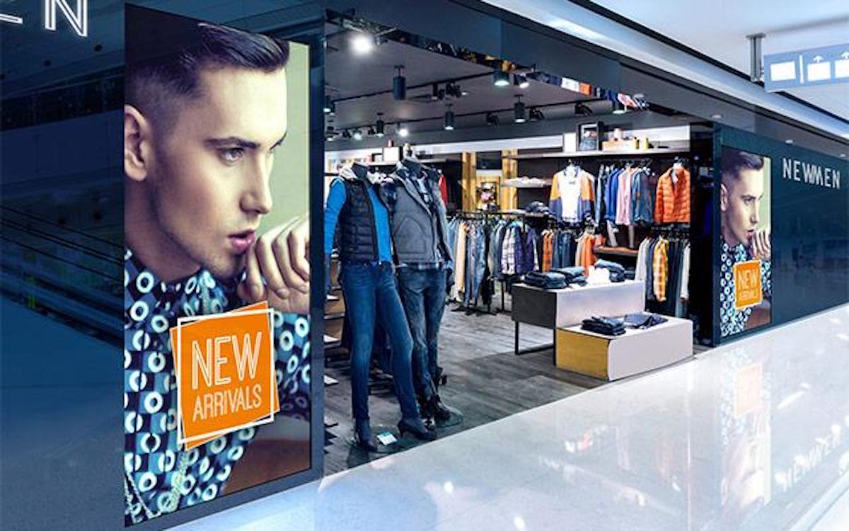 Screens der V-Serie im Einsatz im Einzelhandel (Foto: NEC)