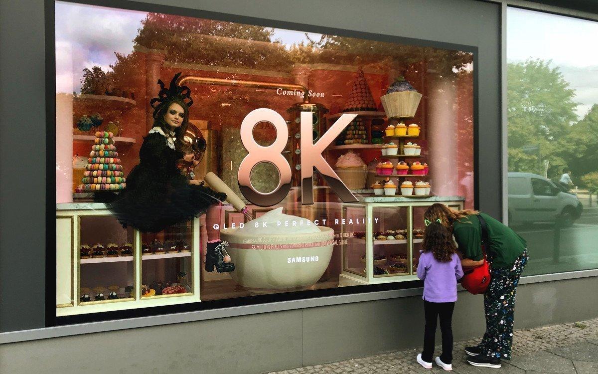 Samsung 8k Live Schaufenster (Foto: Samsung)