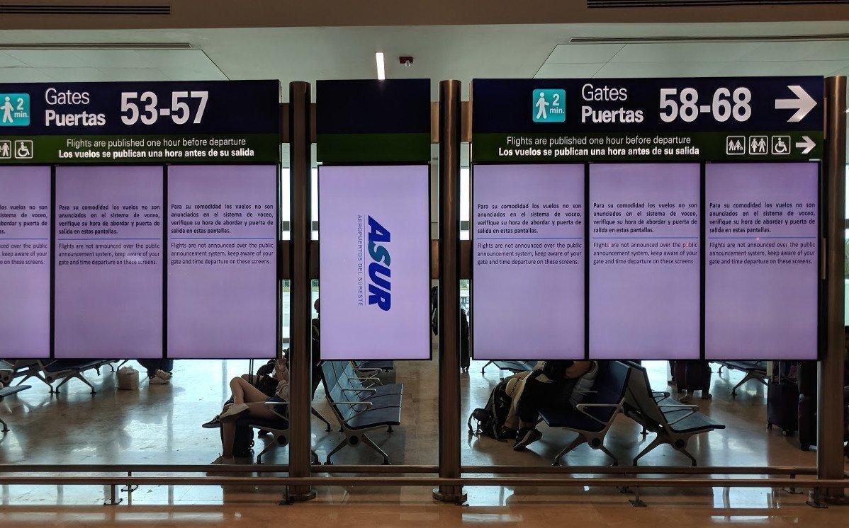 FIDS am Flughafen in Cancun (Foto: invidis)