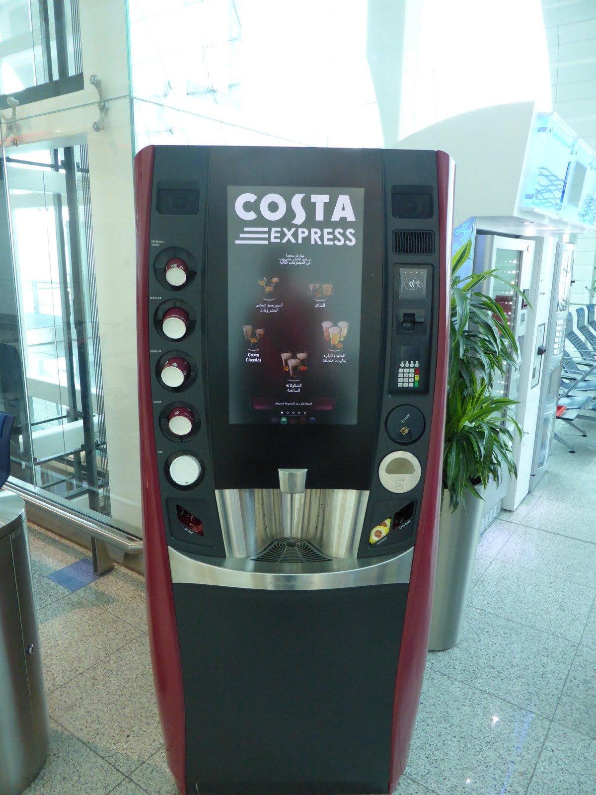 Costa Coffee Express am Flughafen Dubai (Foto: invidis)