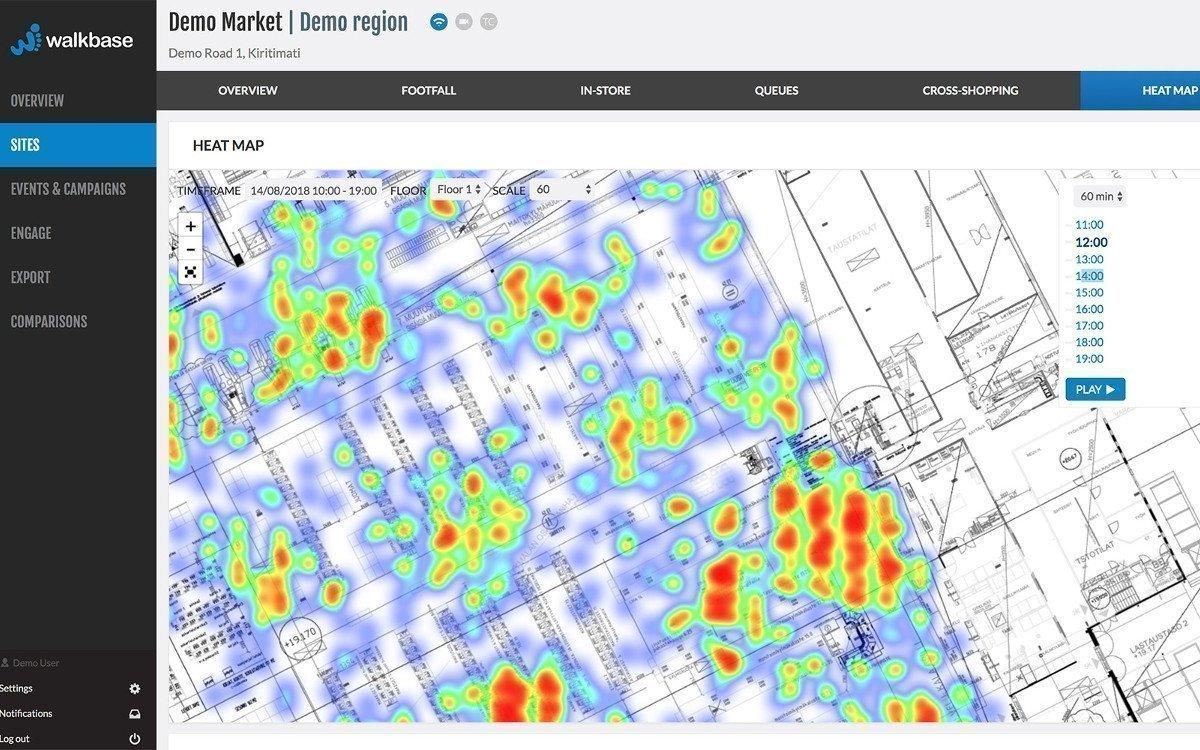 Retail Analytics von Walkbase (Foto: Screenshot)