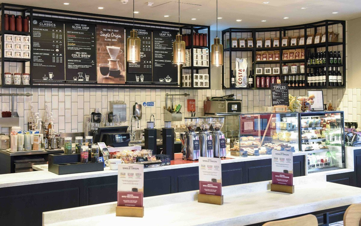 Aktueller ladenbau von Costa Coffee Shop (Foto: Costa Coffee)